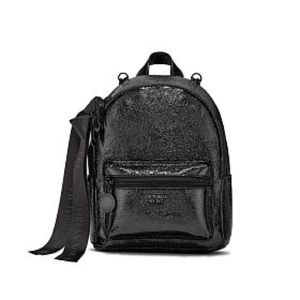 0afb62ae0f7 Victoria s Secret Bags - New VS Metallic Crackle Mini City Backpack